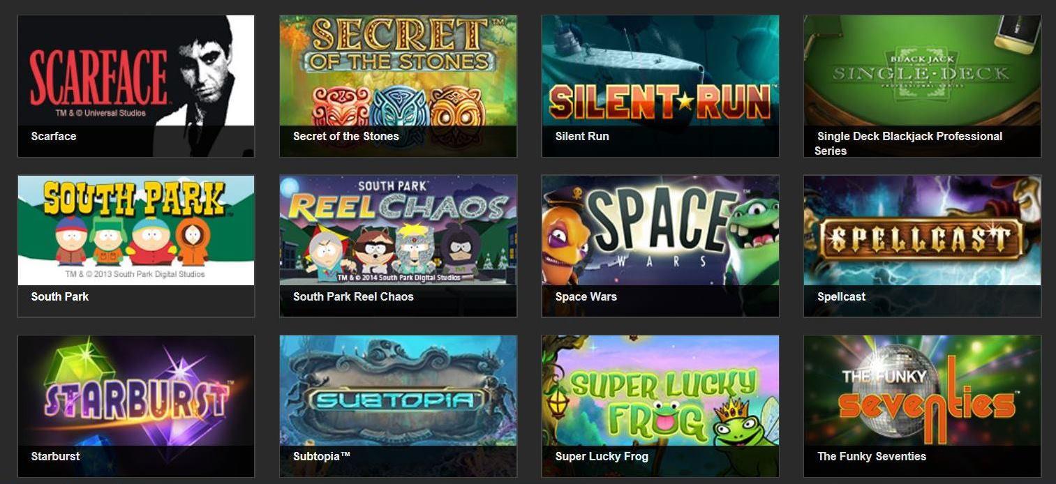 top netent games