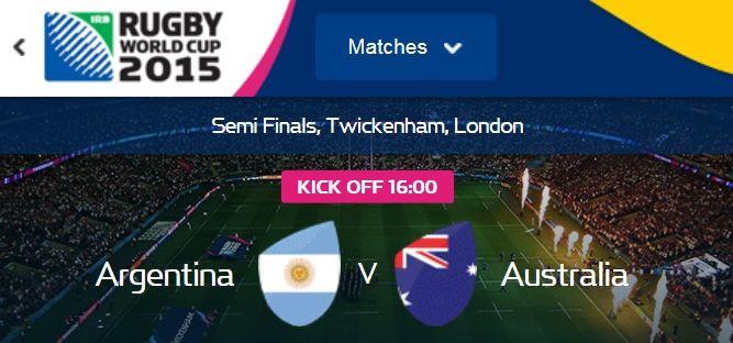 halve finale wk rugby 2015 Argentinie vs Australie