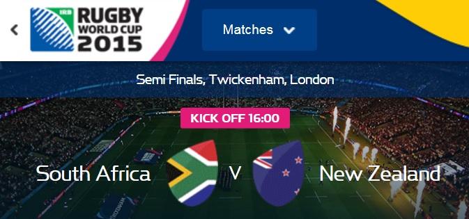 halve finale wk rugby 2015 Zuid Afrika vs Nieuw Zeeland