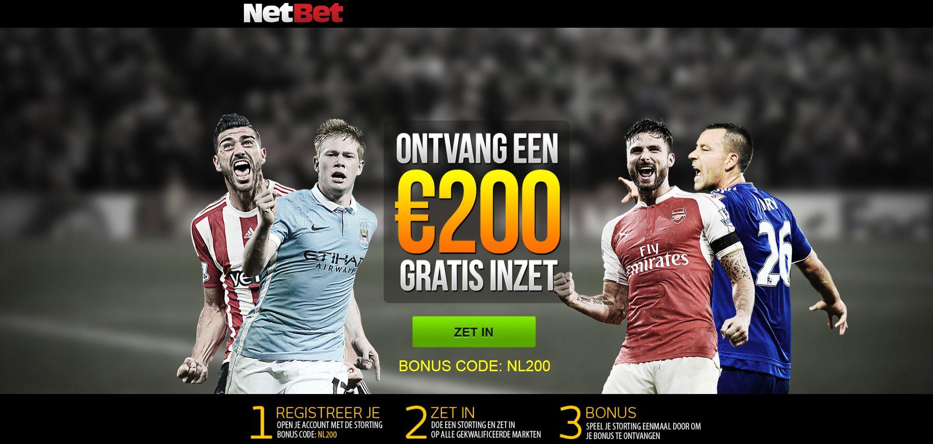 netbet bonus code 200 euro