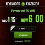 Wedden op Feyenoord Excelsior 2016