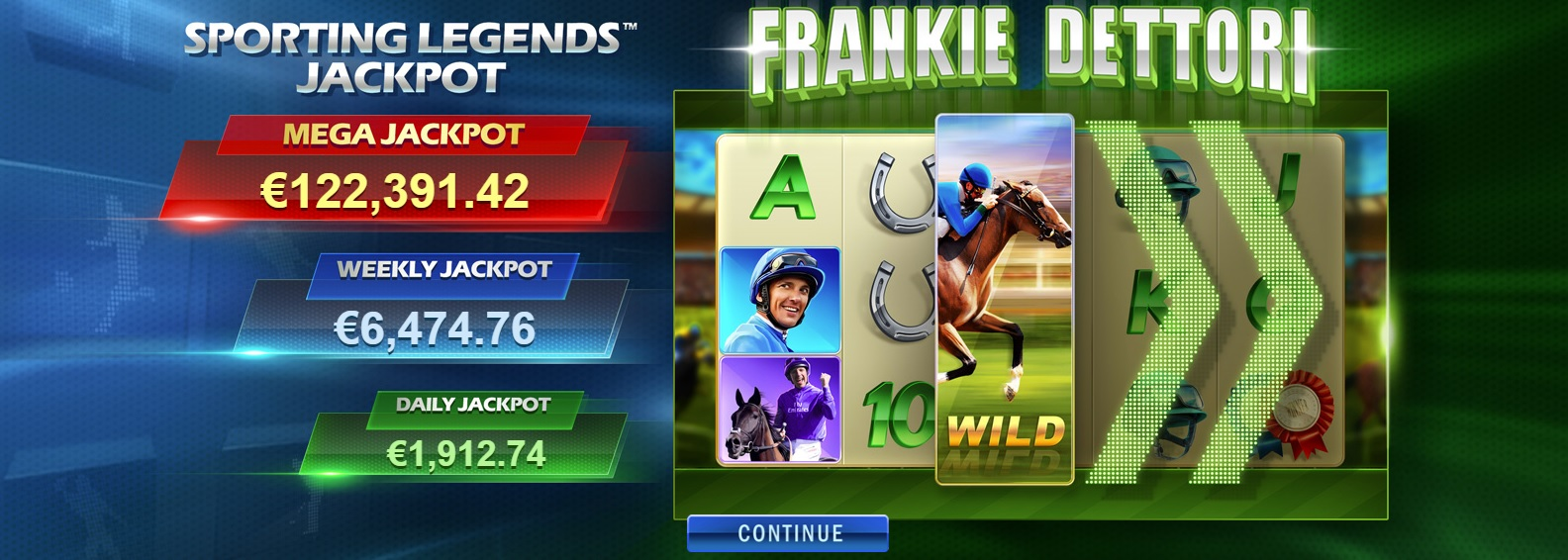 frankie dettori sporting legends jackpot